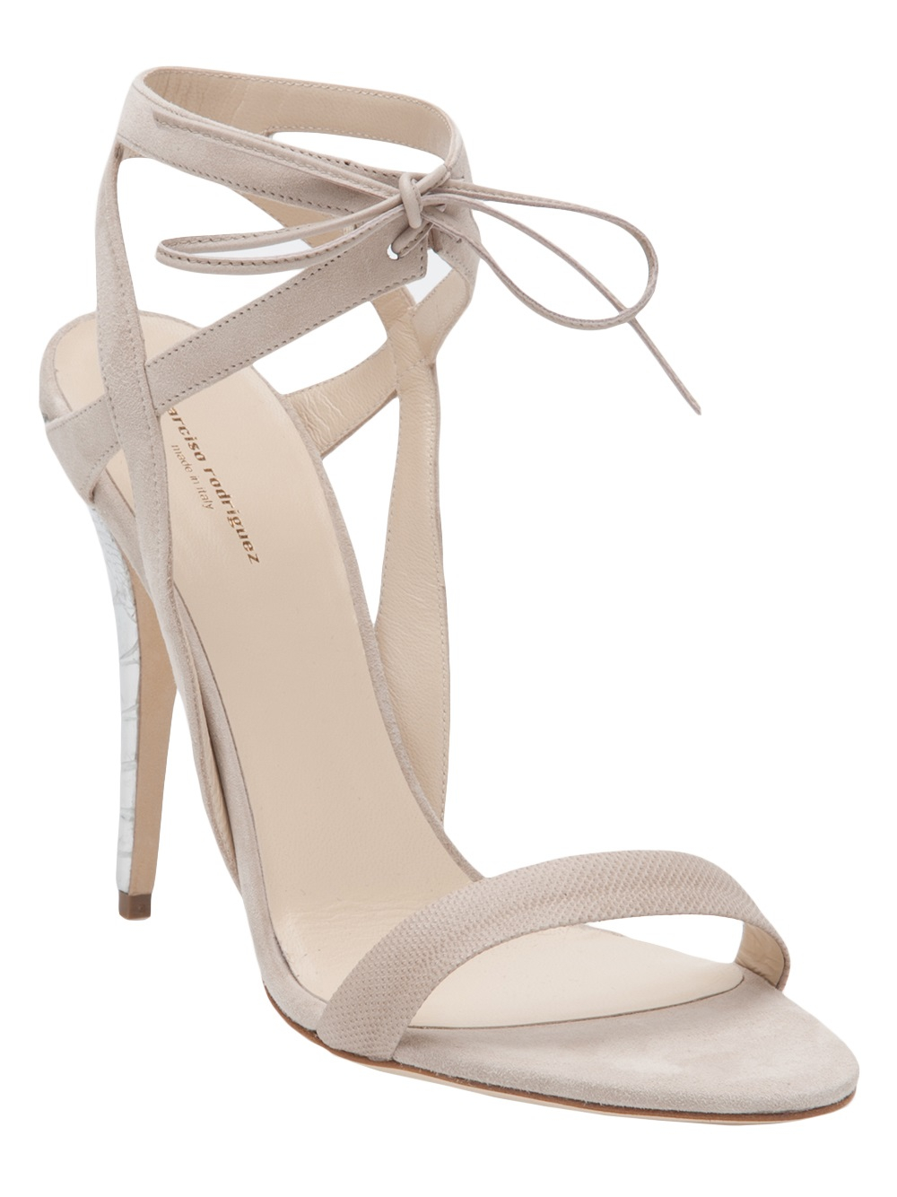 a55bcb999f9 Lyst - Narciso Rodriguez Ankle Tie Sandal in White