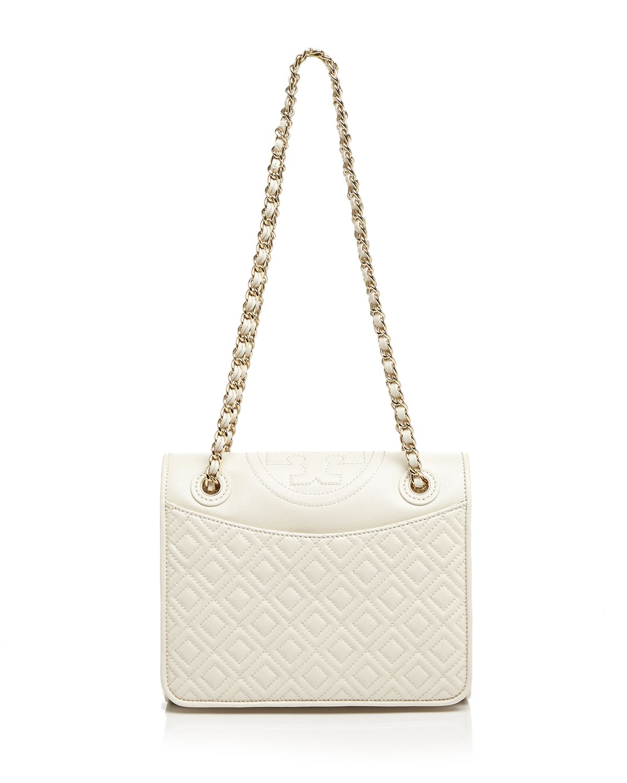 Tory Burch Fleming white leather satchel i0VHQ6VIqK