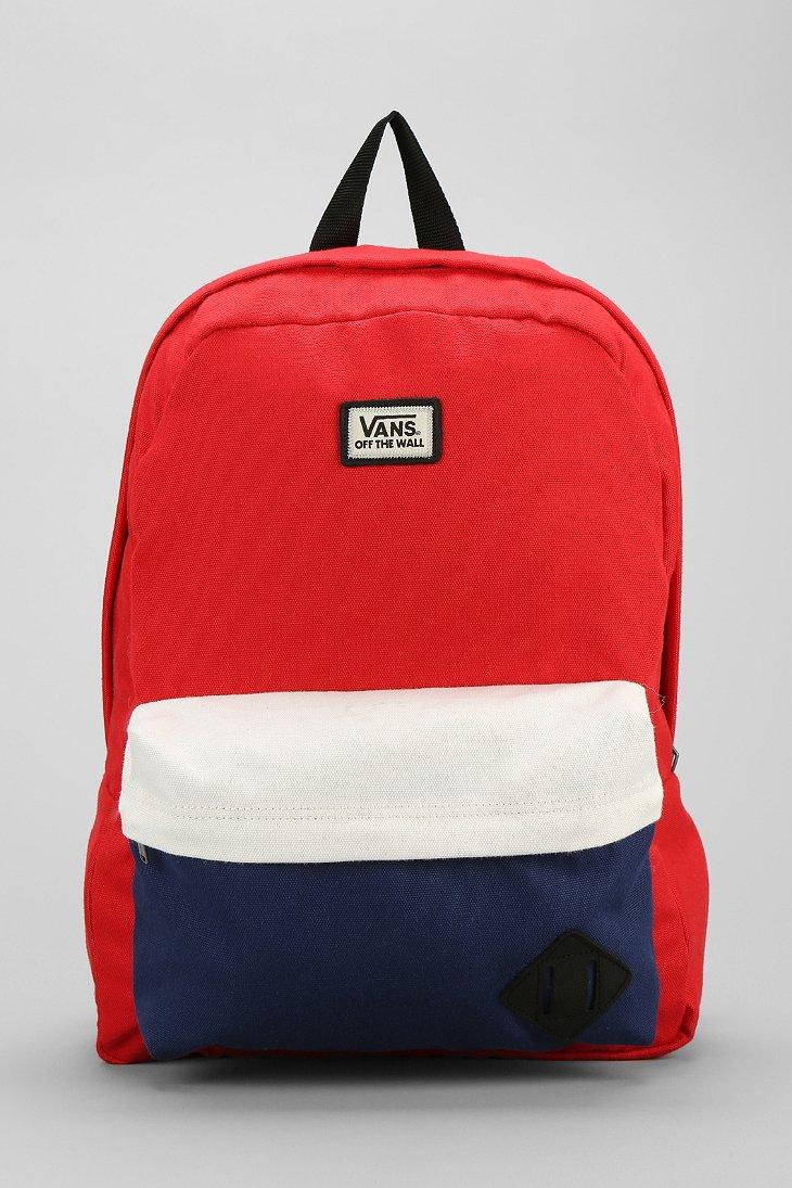 Lyst Vans Old Skool Ii Backpack In Red For Men