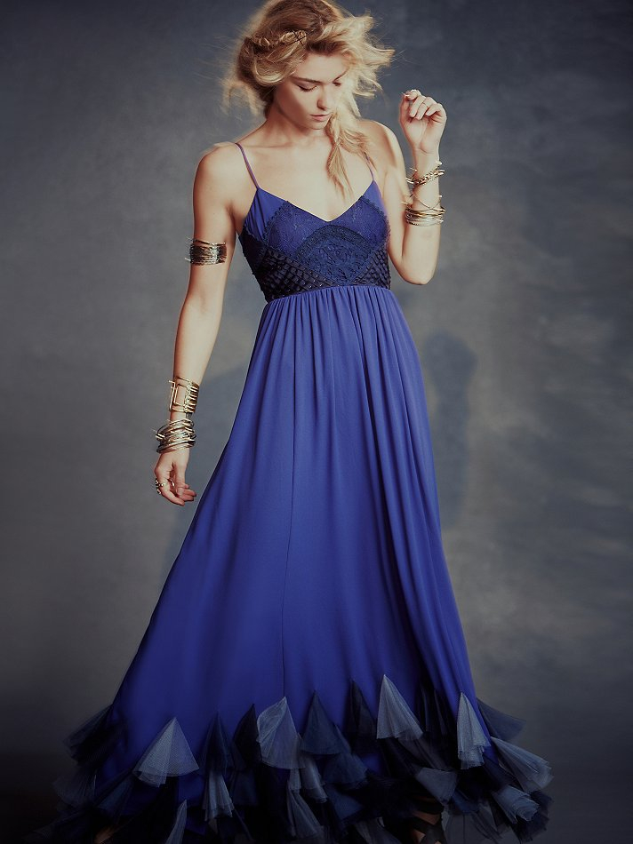 Lyst Free People Forget Me Not Dress In Blue