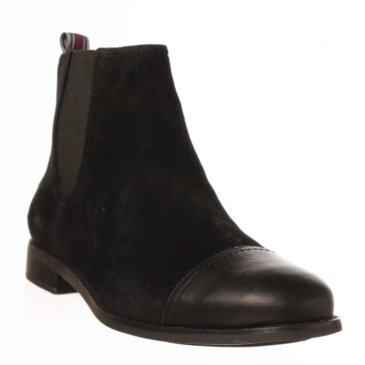 sperry top sider ainslie ankle boot in black lyst