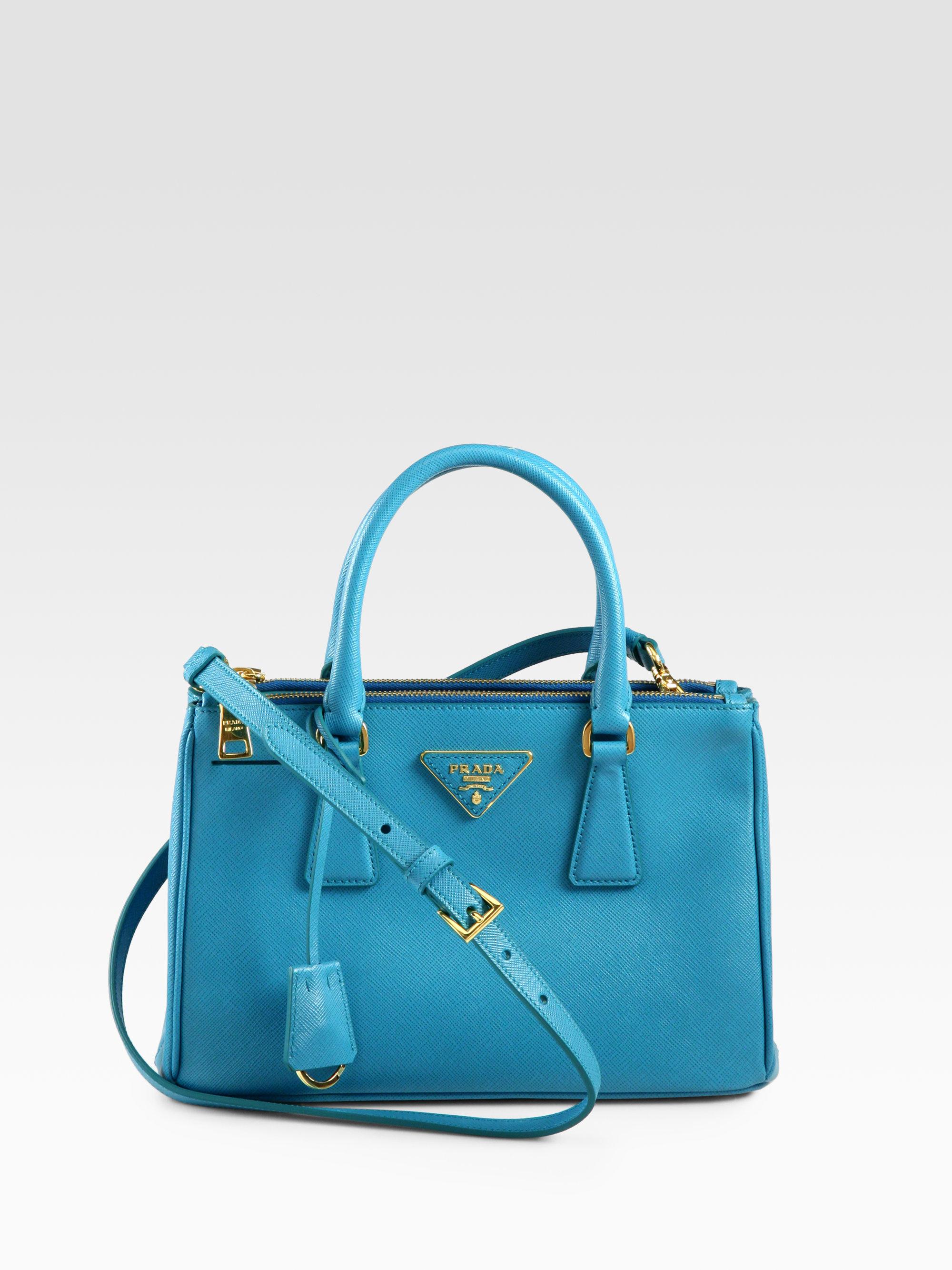 425cf4cac8ec Lyst - Prada Saffiano Lux Small Double-zip Tote in Blue