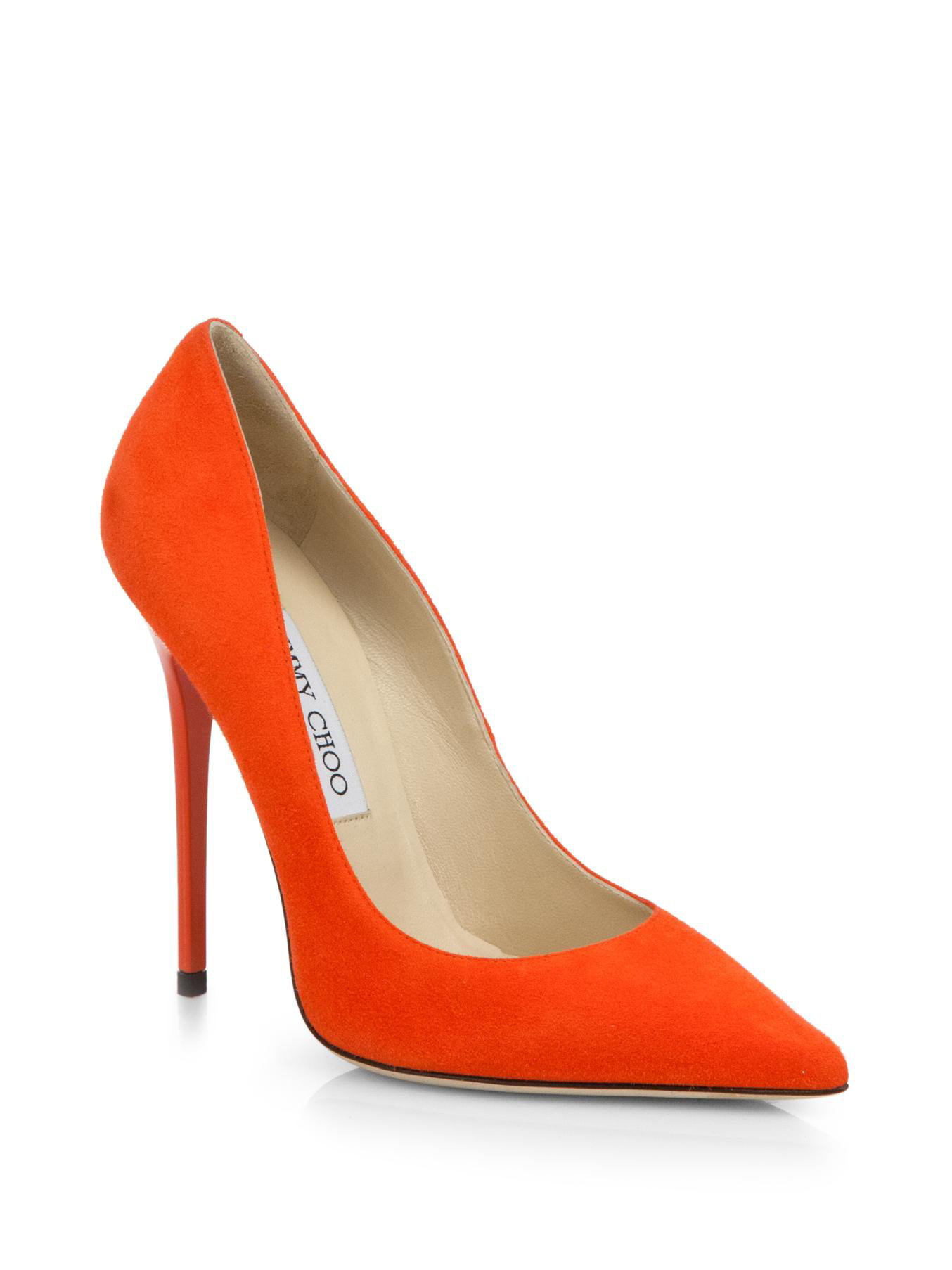ed514c2c7ef sale jimmy choo orange pumps a04f6 41499