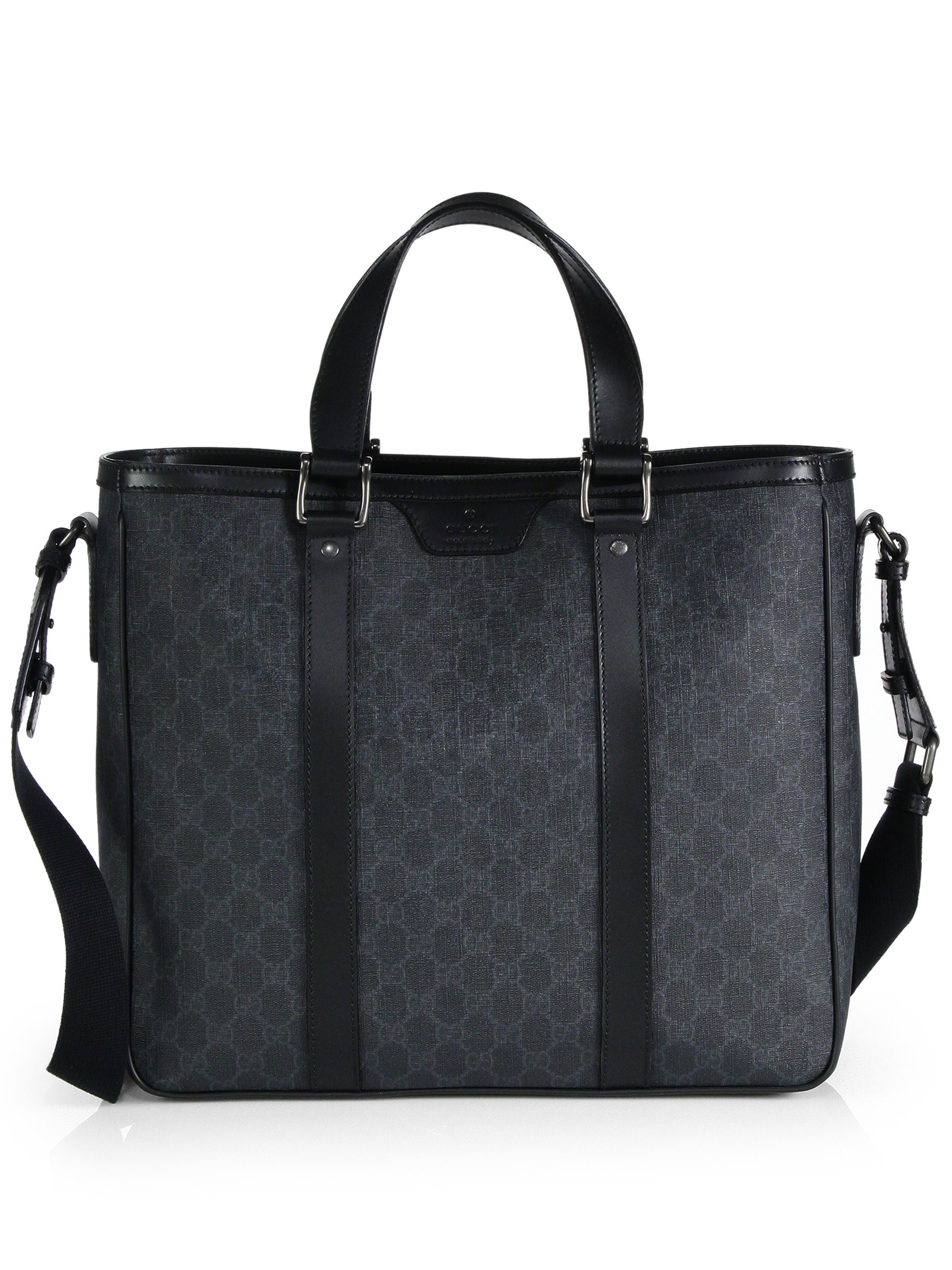 69baa6d86b Gucci Gg Supreme Canvas Tote in Black for Men - Lyst