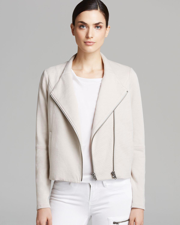 Lyst helmut lang jacket soft double zip sweatshirt in - Sweatshirt kleid lang ...