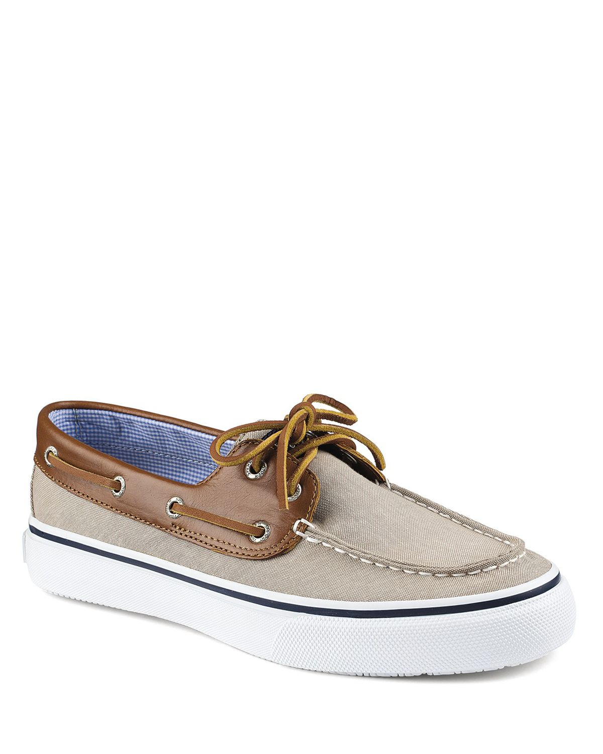 a1ccda63cc7456 Sperry Top-Sider Bahama 2-Eye Chambray Boat Shoes in Blue for Men - Lyst