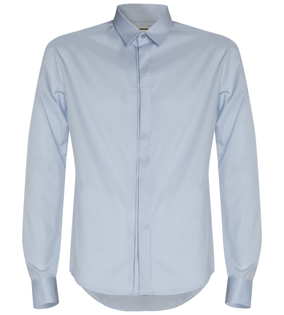 wooyoungmi light blue dress shirt in blue for men lyst