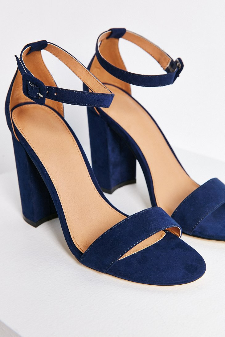 d3bc377ec3f Lyst - Urban Outfitters Thin Ankle Strap Heel in Blue