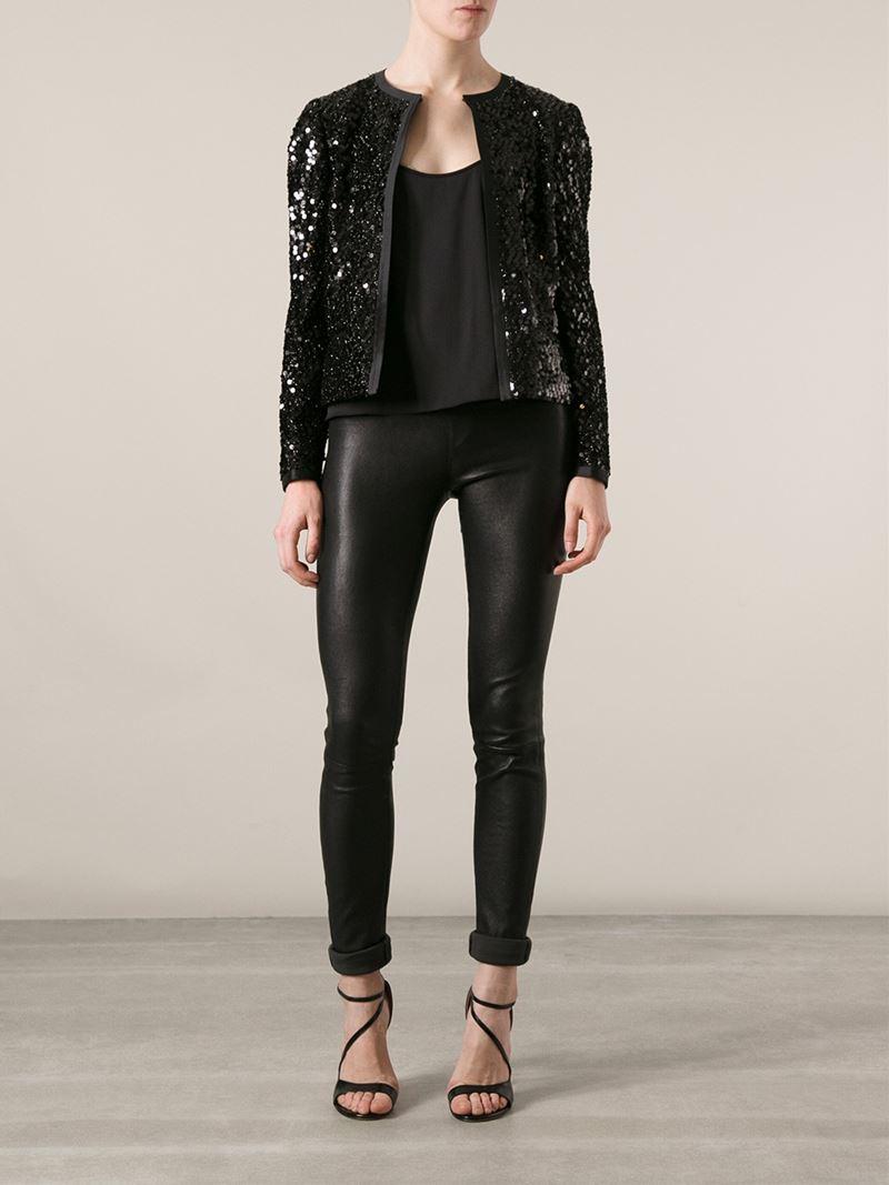 lyst dolce gabbana sequin jacket in black. Black Bedroom Furniture Sets. Home Design Ideas