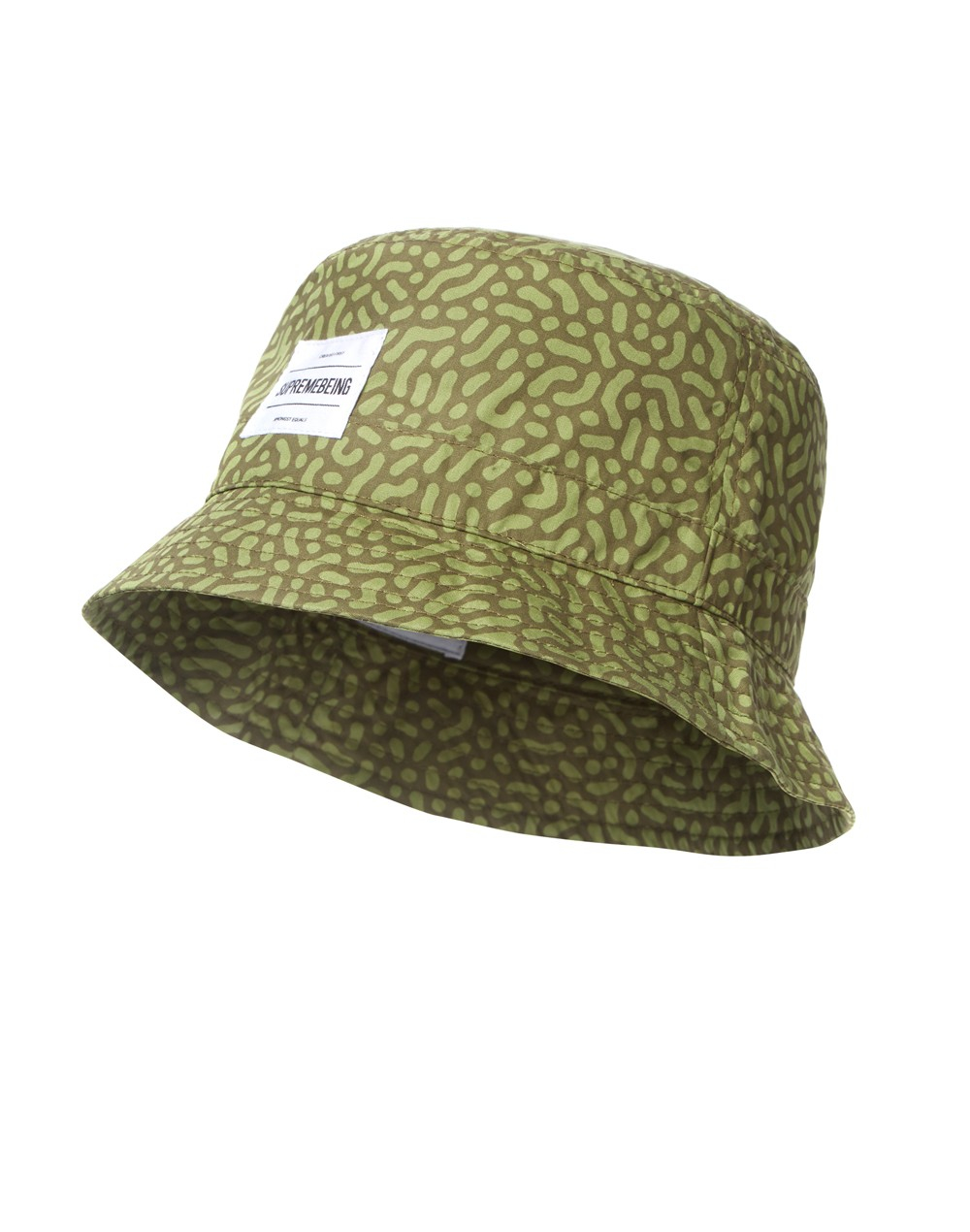 the idle man supreme being angle bucket hat green