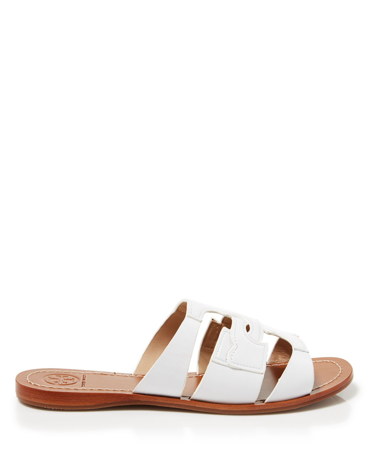 a607c1715 Lyst - Tory Burch Flat Slide Sandals - Anchor in Red