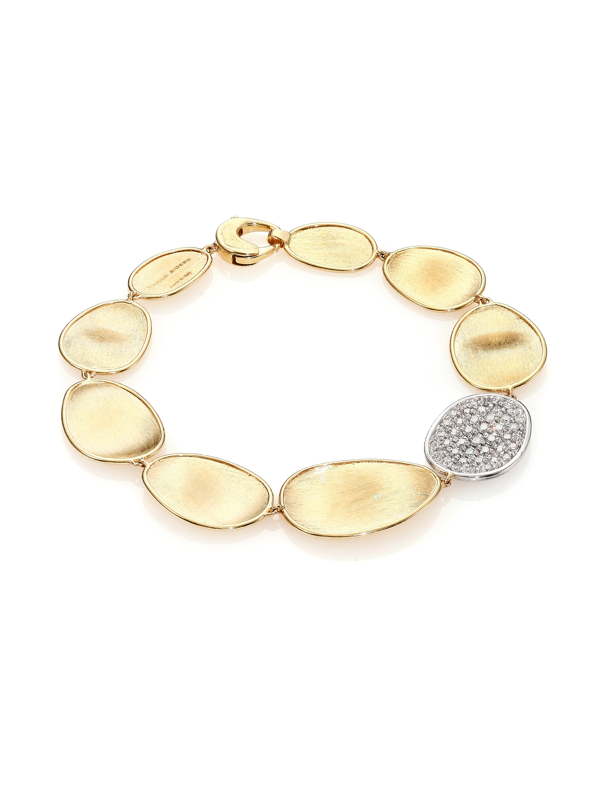 marrakech and marco diamond gold bracelet bicego white