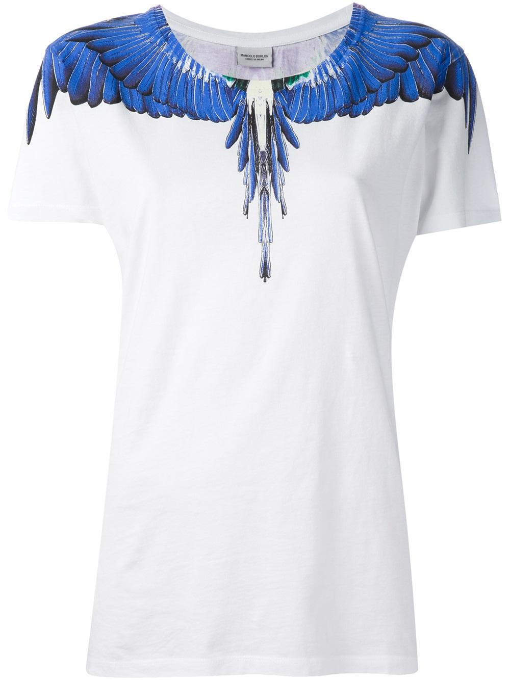 Lyst Tshirt 67xhzwqdz6 Wing Bleu En Burlon Marcelo gbyYv6f7