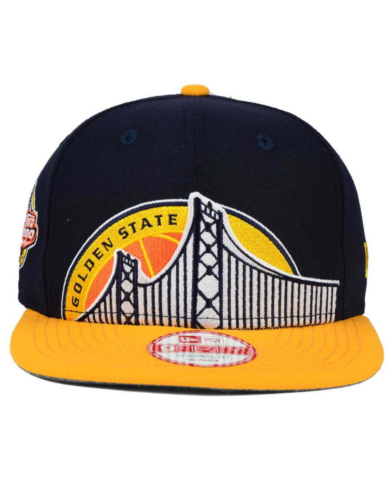 premium selection 1681f 35a67 ... cheap lyst ktz golden state warriors oversizer 9fifty snapback cap in  aeede 1a209