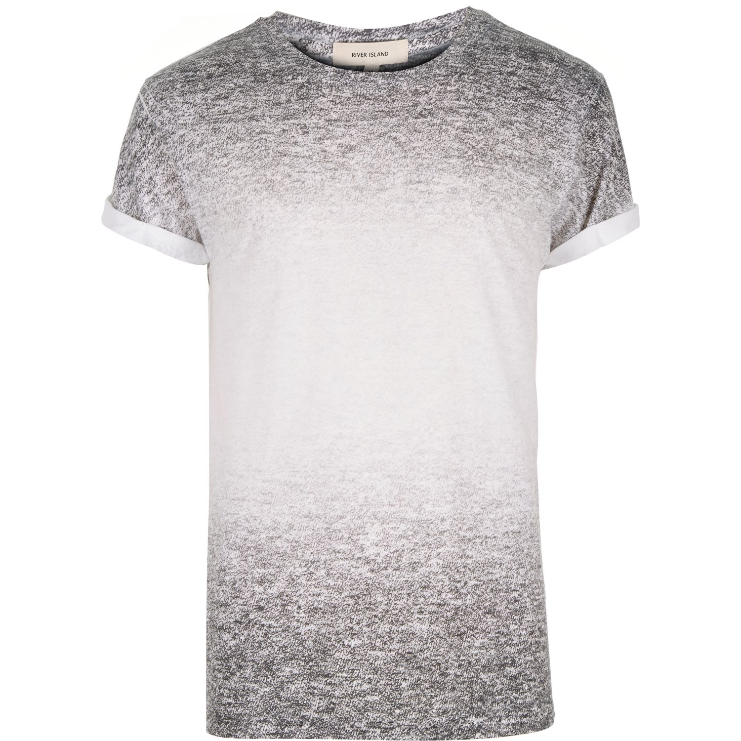 River island grey textured faded t shirt in gray for men for Faded color t shirts