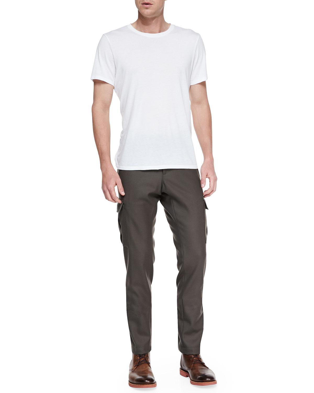 Moncler Wool Cargo Dress Pants in Green for Men | Lyst