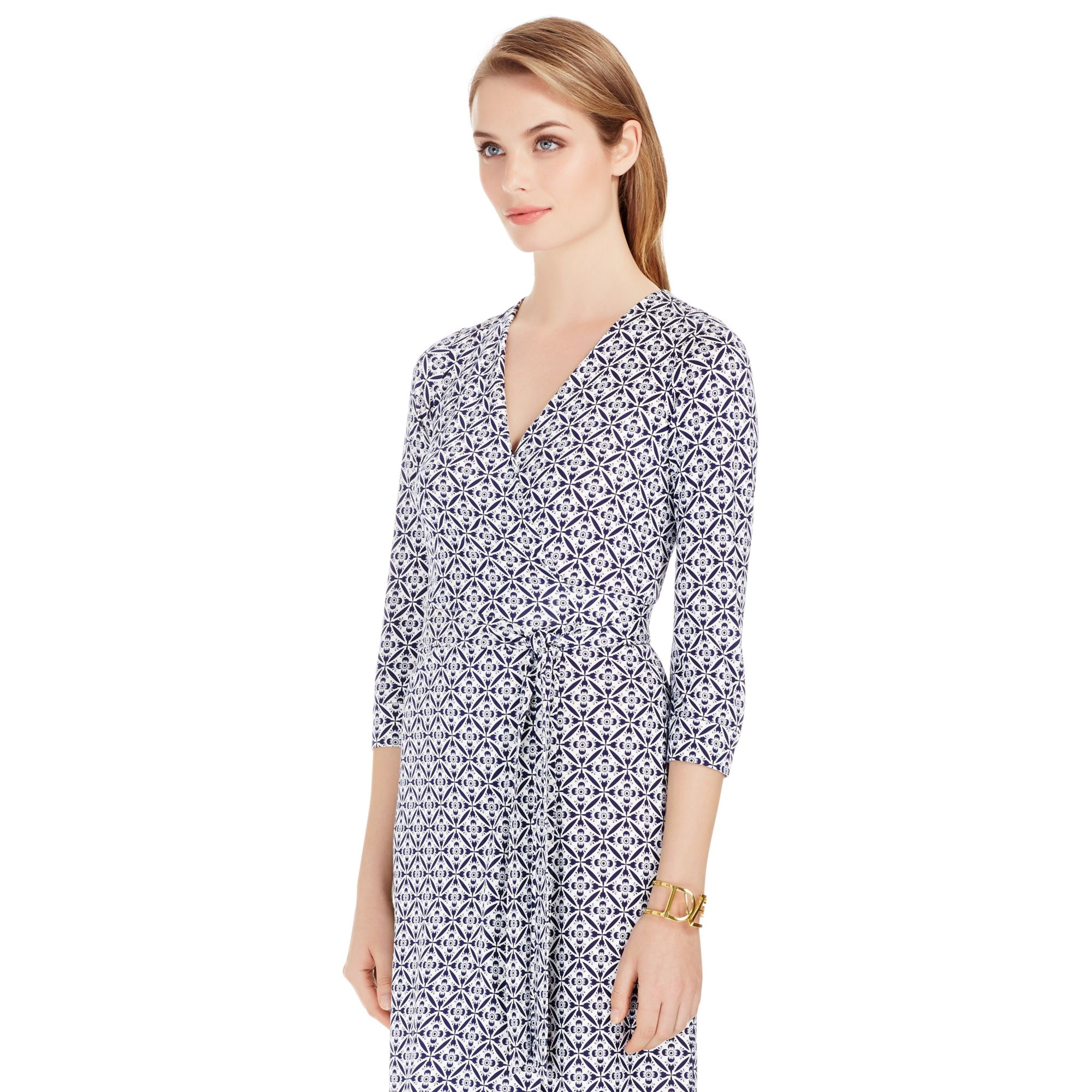 Diane von furstenberg new julian two silk jersey wrap for Diane von furstenberg clothes