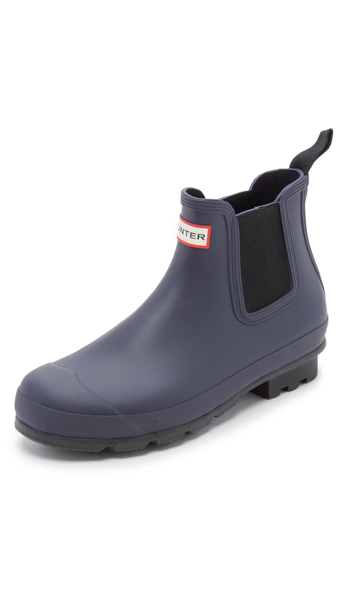 hunter original chelsea boots in blue for men lyst. Black Bedroom Furniture Sets. Home Design Ideas