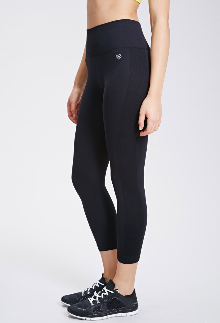 9360df2a945777 Forever 21 Active Seamless Athletic Capri Leggings in Black - Lyst