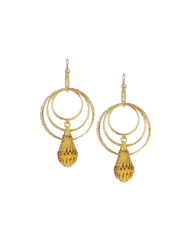 Devon Leigh Multi-Hoop Pendant Drop Earrings JE4otR