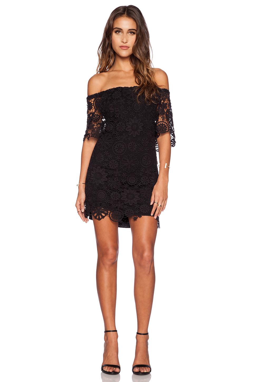 Nightcap Caribbean Crochet Off Shoulder Dress In Black Lyst
