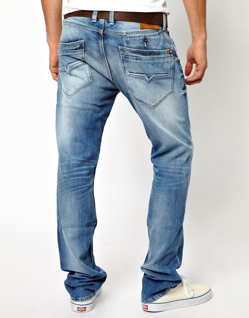 lyst pepe jeans pepe spike jean punk trash in blue for men. Black Bedroom Furniture Sets. Home Design Ideas