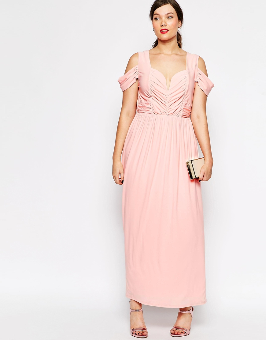 Lyst Asos Curve Wedding Maxi Dress With Drape Cold