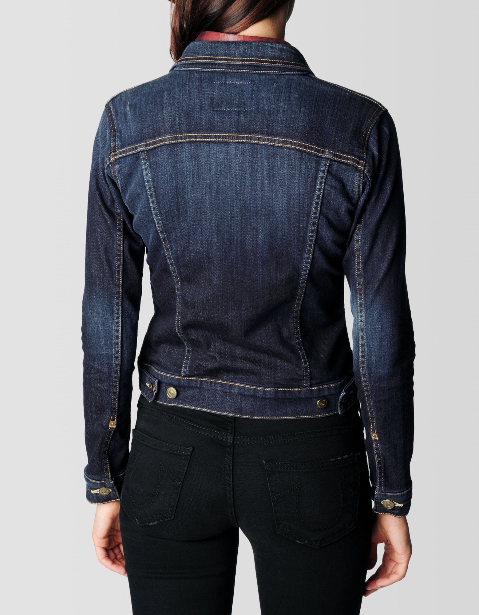 Fitted Denim Jacket Womens - Coat Nj