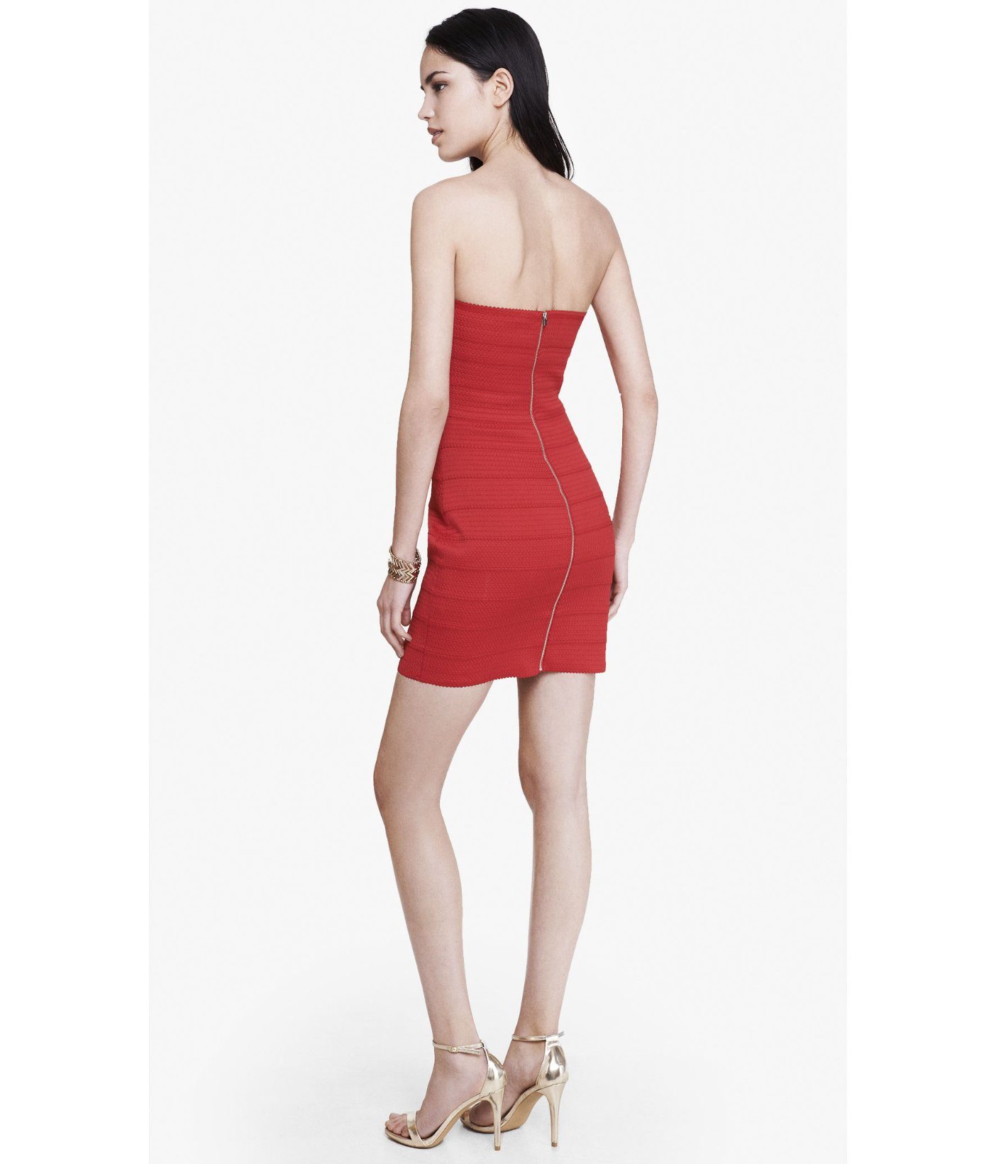 Strapless Cocktail Dress Red Express   Dress images
