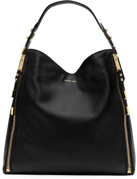 Sweden Michael Kors Blake Shoulder - Bags Michael Kors Miranda Zipper Shoulder Bag Black