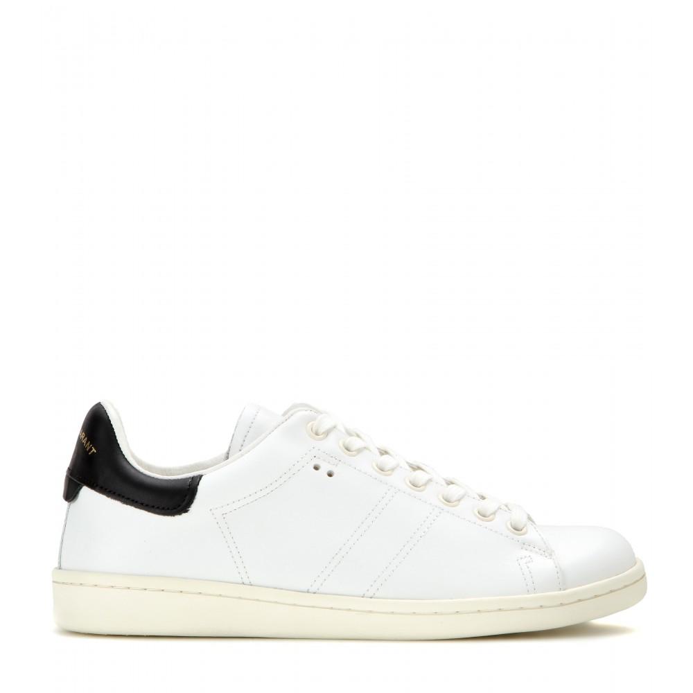 isabel marant bart leather sneakers in black save 44 lyst