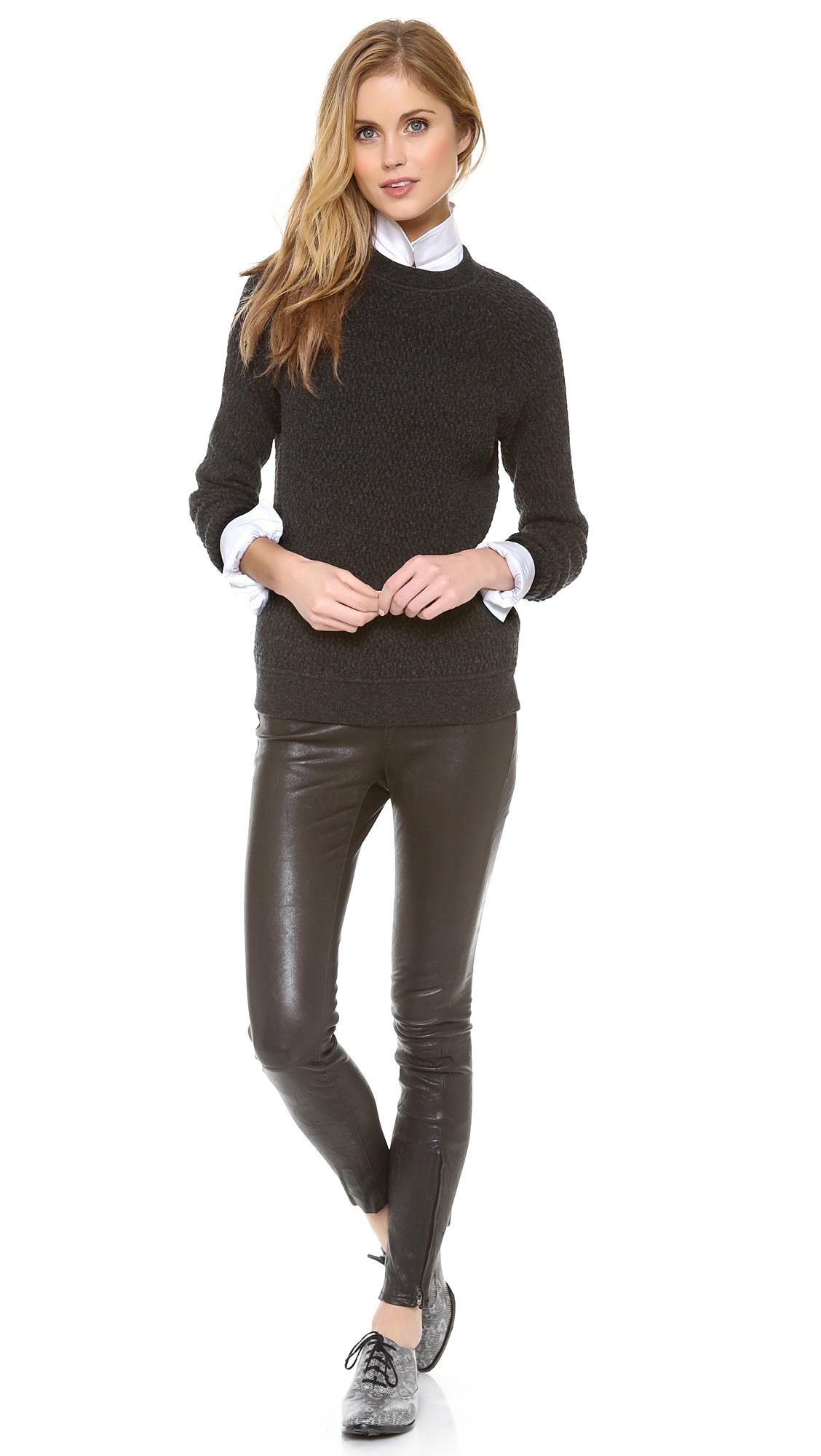 6c2127dcd203c Lyst - J Brand Super Skinny Leather Pants in Black