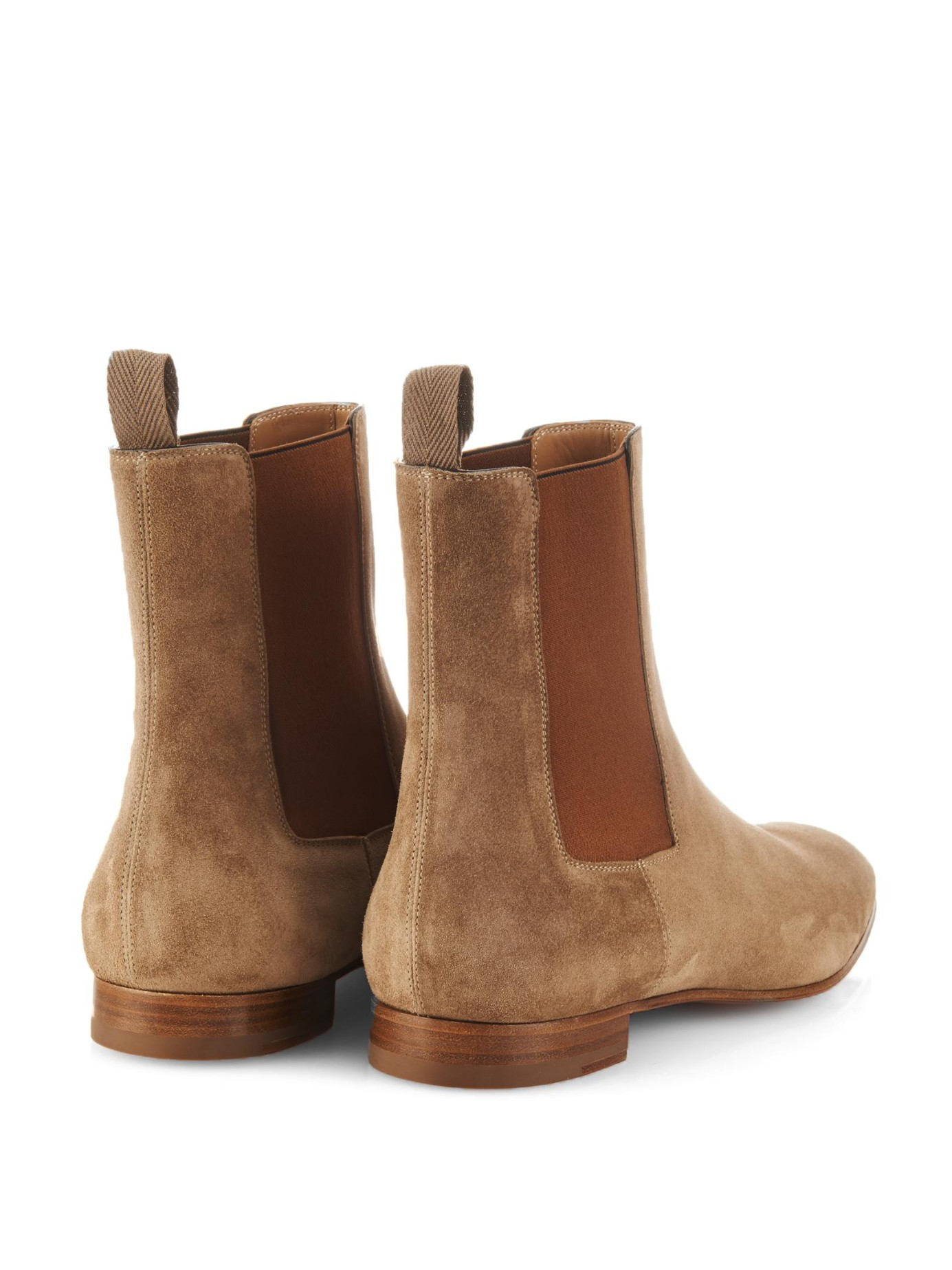 uk availability 03e7d eafff Artesur » christian louboutin boots Camel suede stacked heels