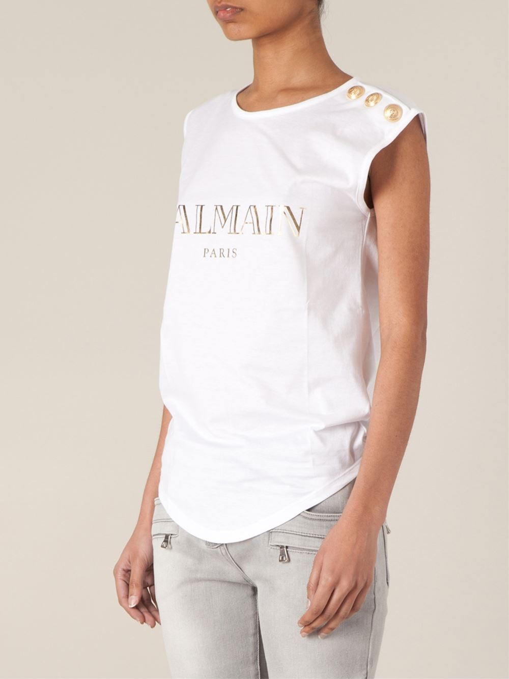 sleveless shirt Balmain Recommend Cheap Price Sale Best Wholesale Free Shipping Fashion Style Shopping Online For Sale QA0nDiokuY