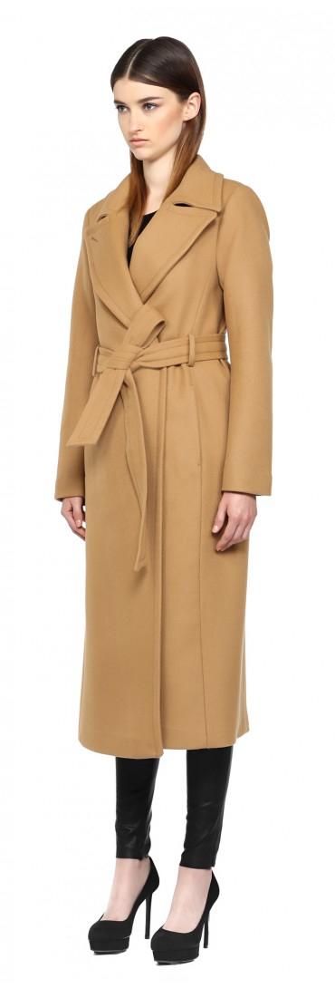 Mackage Babie-sp Camel Long Wool Coat in Natural | Lyst
