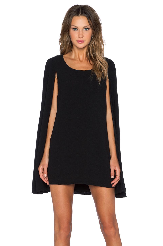 Lavish Alice Cape Back Mini Dress In Black Lyst