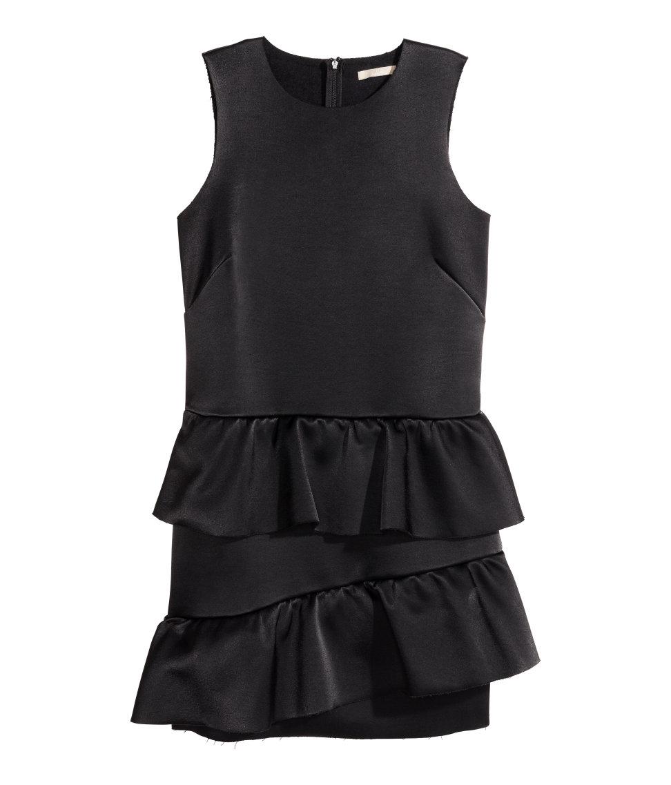 c04133426c0f Lyst - H&M Tiered Dress in Black