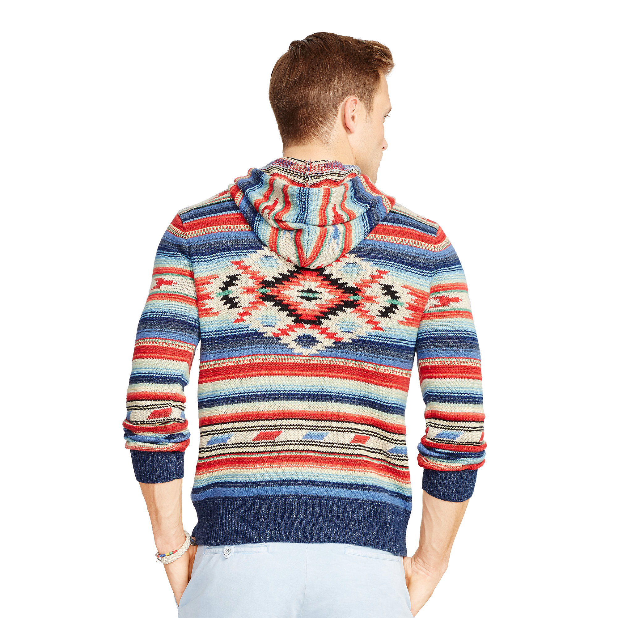 94c2390a ... purchase lyst polo ralph lauren serape inspired hoodie for men d0a94  085c5