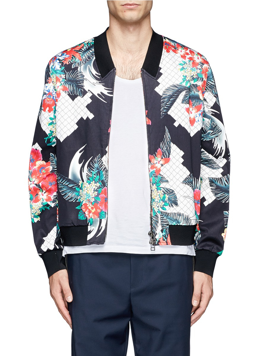 3.1 phillip lim Allover Print Bomber Jacket for Men | Lyst
