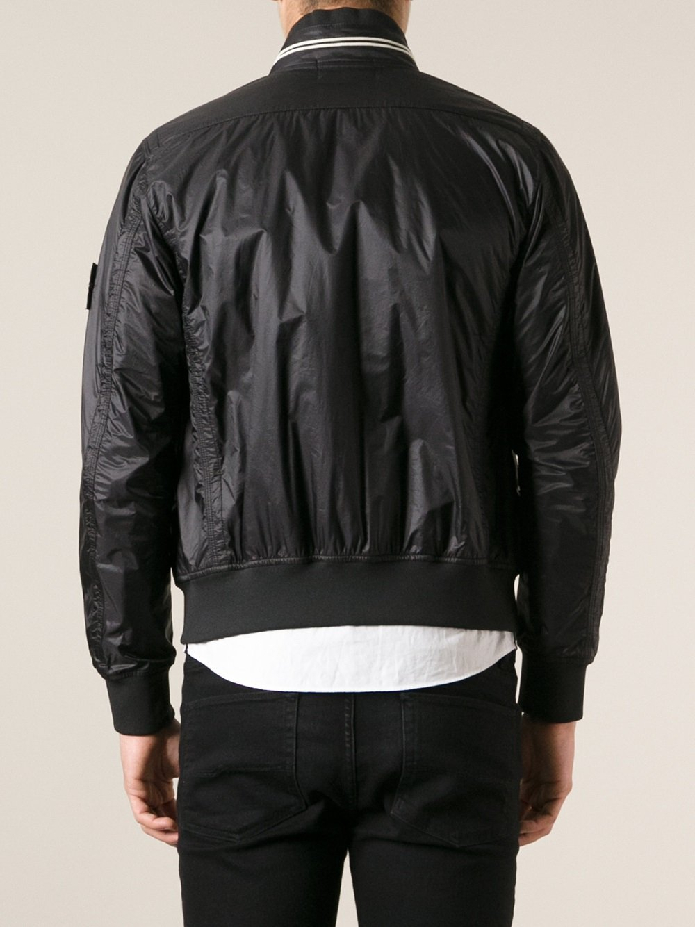 Stone Island Bomber Jacket in Black for Men - Lyst