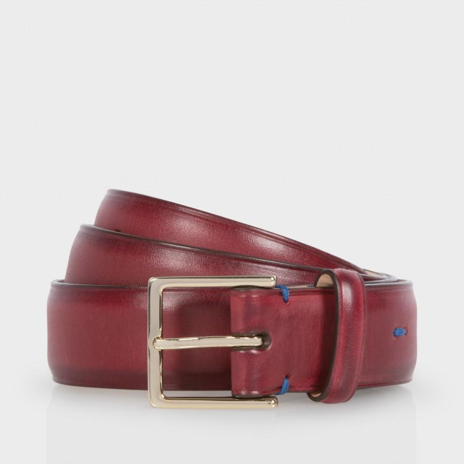 paul smith s burnished burgundy calf leather