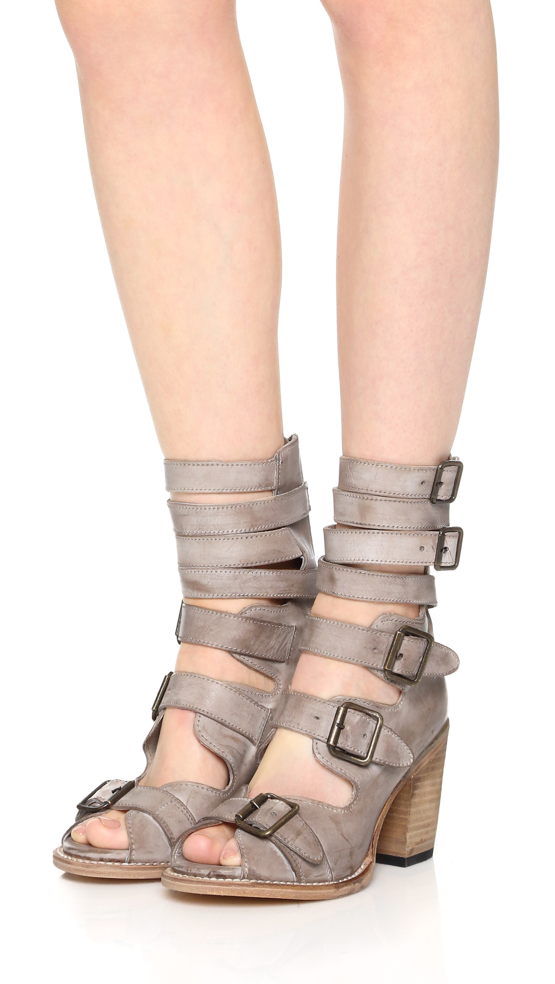 Lyst Freebird By Steven Bond Sandals Taupe In Gray