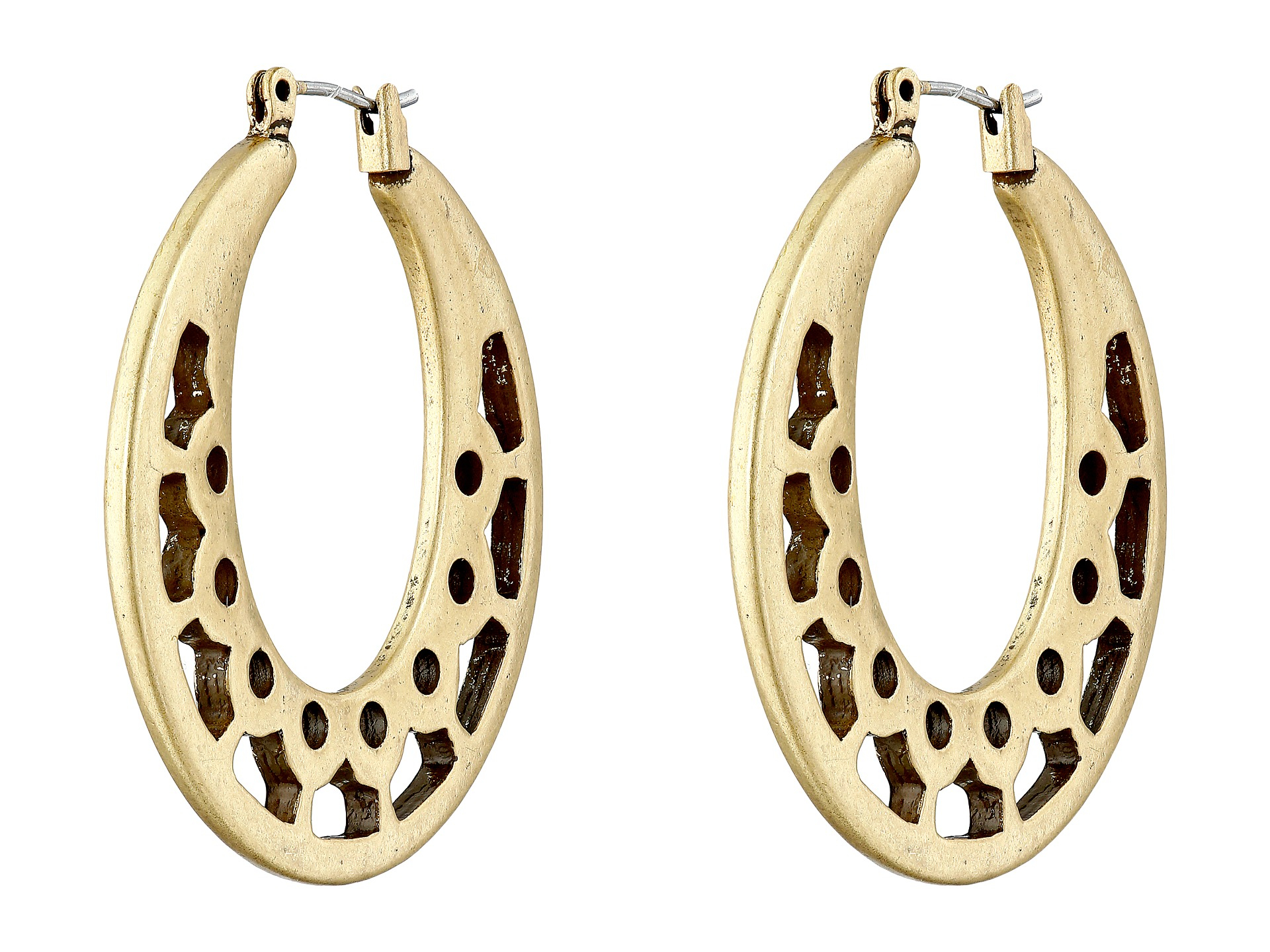 earrings silver medallions single work with intricate tone shop lattice a link featuring gold two jewellery zanfeld drop