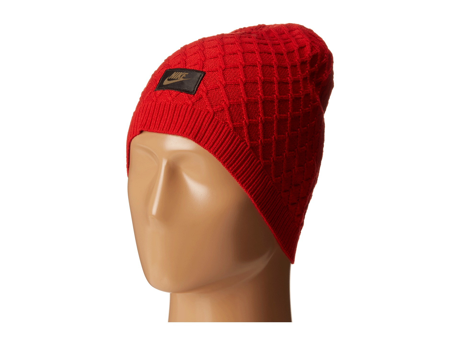 Lyst - Nike Sportswear Cable Knit Beanie in Red for Men 1331dfcbcab