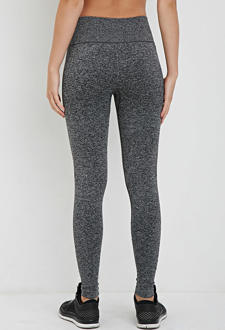 0c4ca0fb17c4a Forever 21 Active Seamless Athletic Leggings in Gray - Lyst