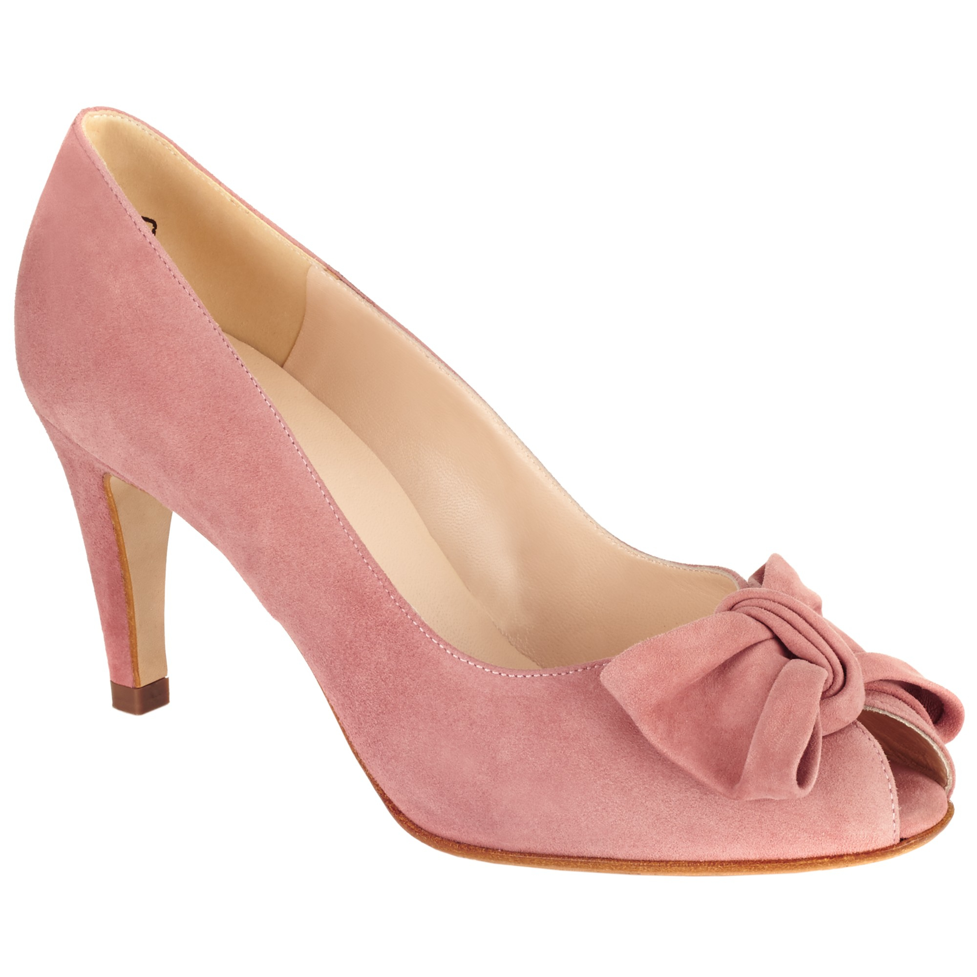 d8a4757ca9a Peter Kaiser Samos Bow Detail Open Toe Courts in Pink - Lyst