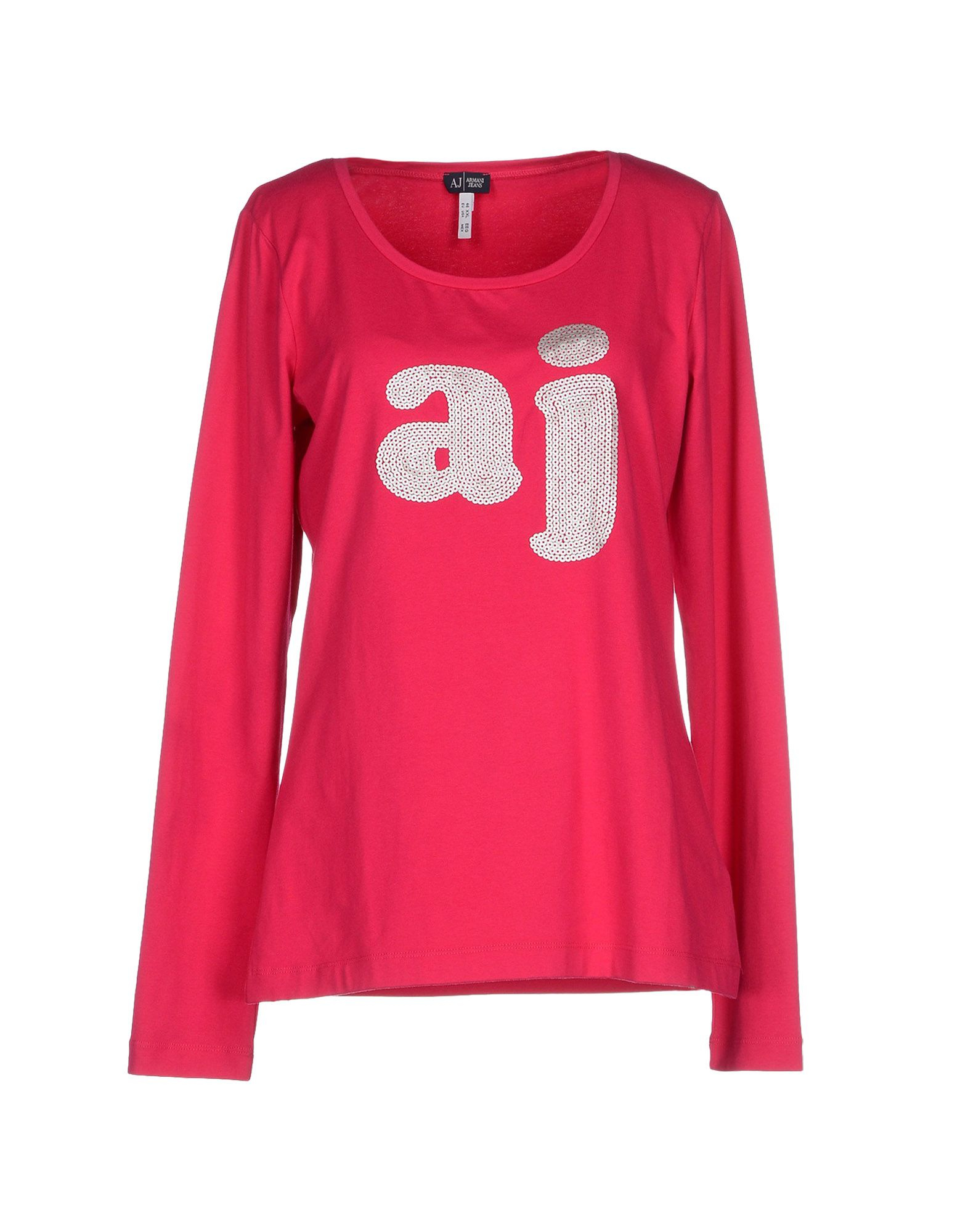 armani jeans t shirt in purple fuchsia lyst. Black Bedroom Furniture Sets. Home Design Ideas