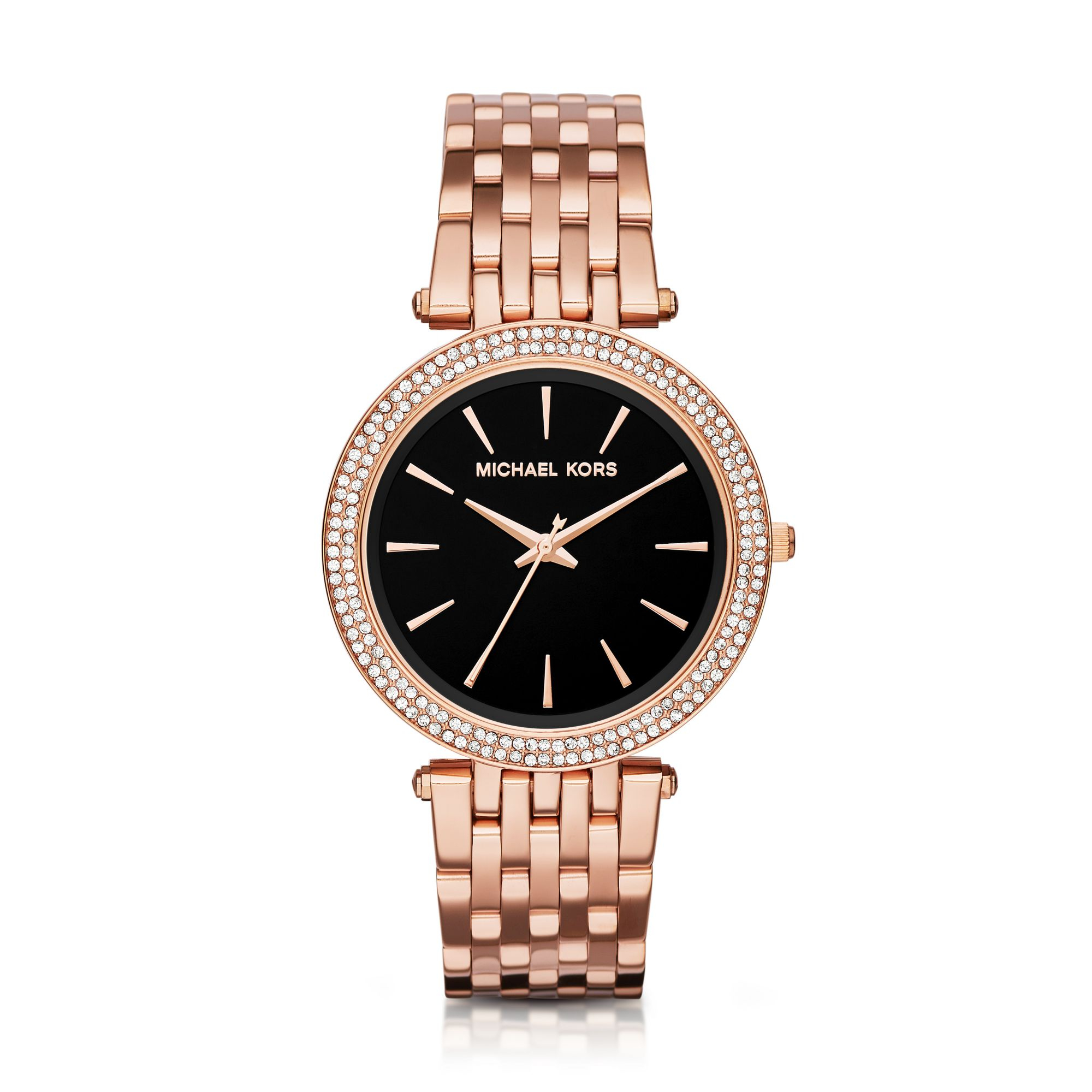 Lyst - Michael Kors Darci Pavé Rose Gold-tone Watch in Pink