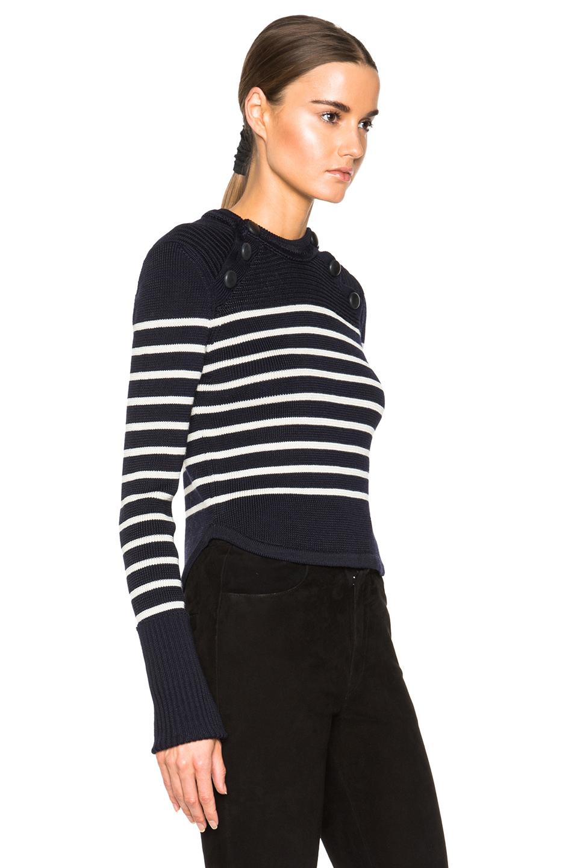 isabel marant hatfield navy knit sweater in blue lyst. Black Bedroom Furniture Sets. Home Design Ideas