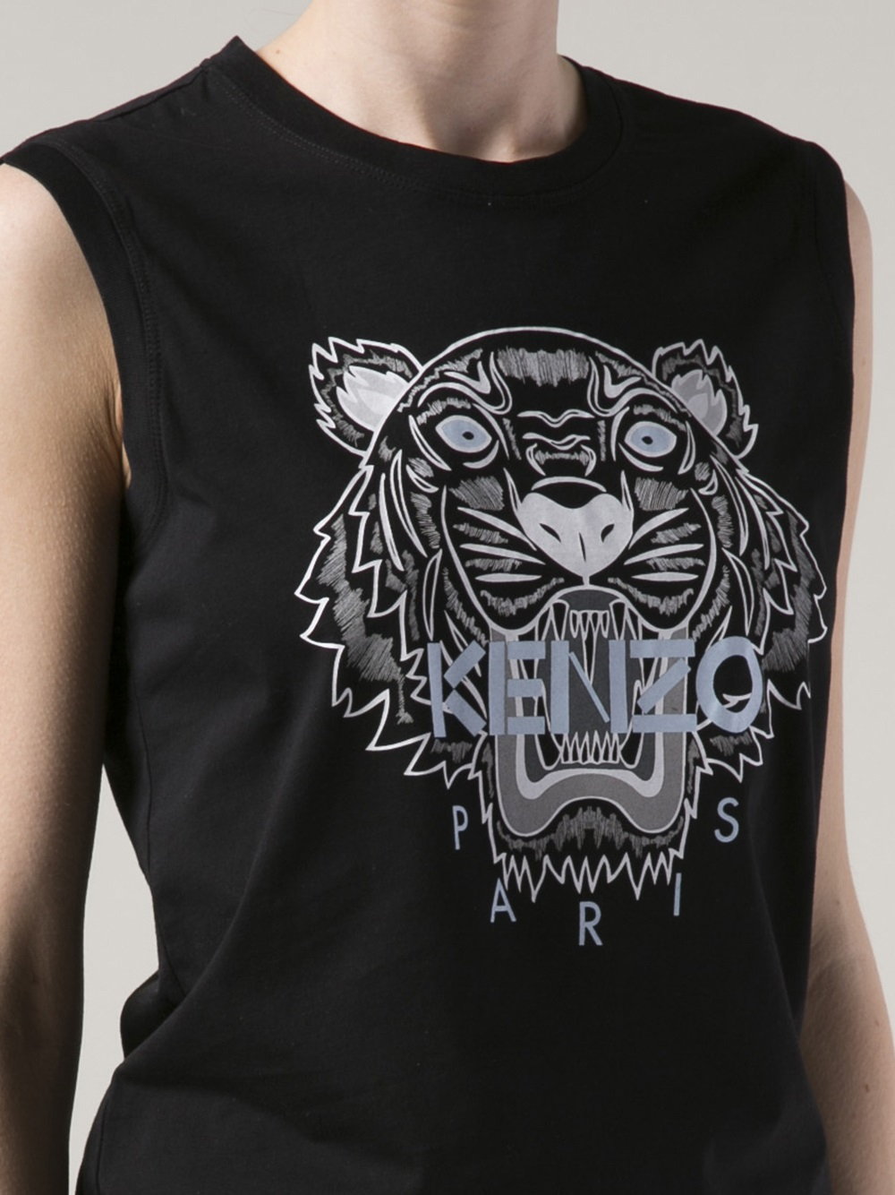 Lyst Kenzo Graphic Tiger Tshirt In Black